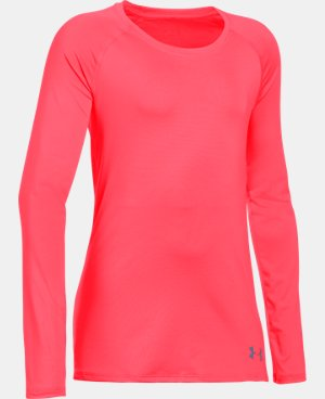 Girls' HeatGear® Armour Long Sleeve  4 Colors $26.99