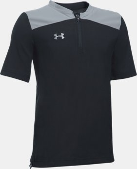 Boys' UA Triumph Short Sleeve Cage Jacket  1 Color $49.99