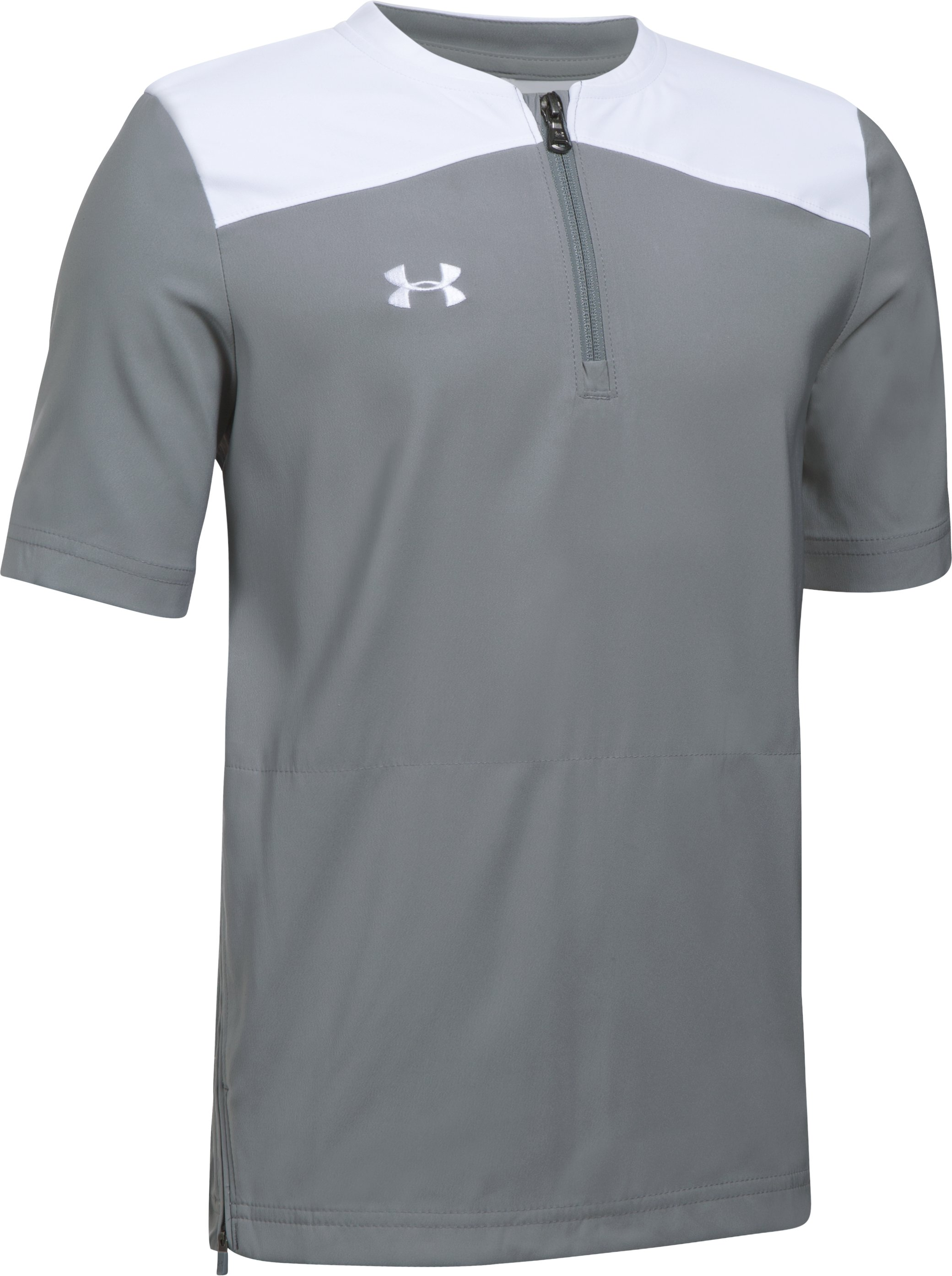 Boys' UA Triumph Short Sleeve Cage Jacket 3 Colors $49.99