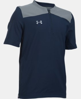 Boys' UA Triumph Short Sleeve Cage Jacket  3  Colors Available $49.99