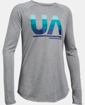 Girls' UA Horizontal Fade Long Sleeve LIMITED TIME: FREE U.S. SHIPPING  $29.99