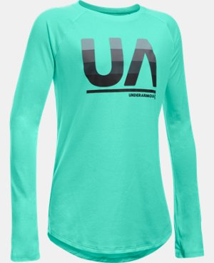 New Arrival Girls' UA Horizontal Fade Long Sleeve  1 Color $29.99