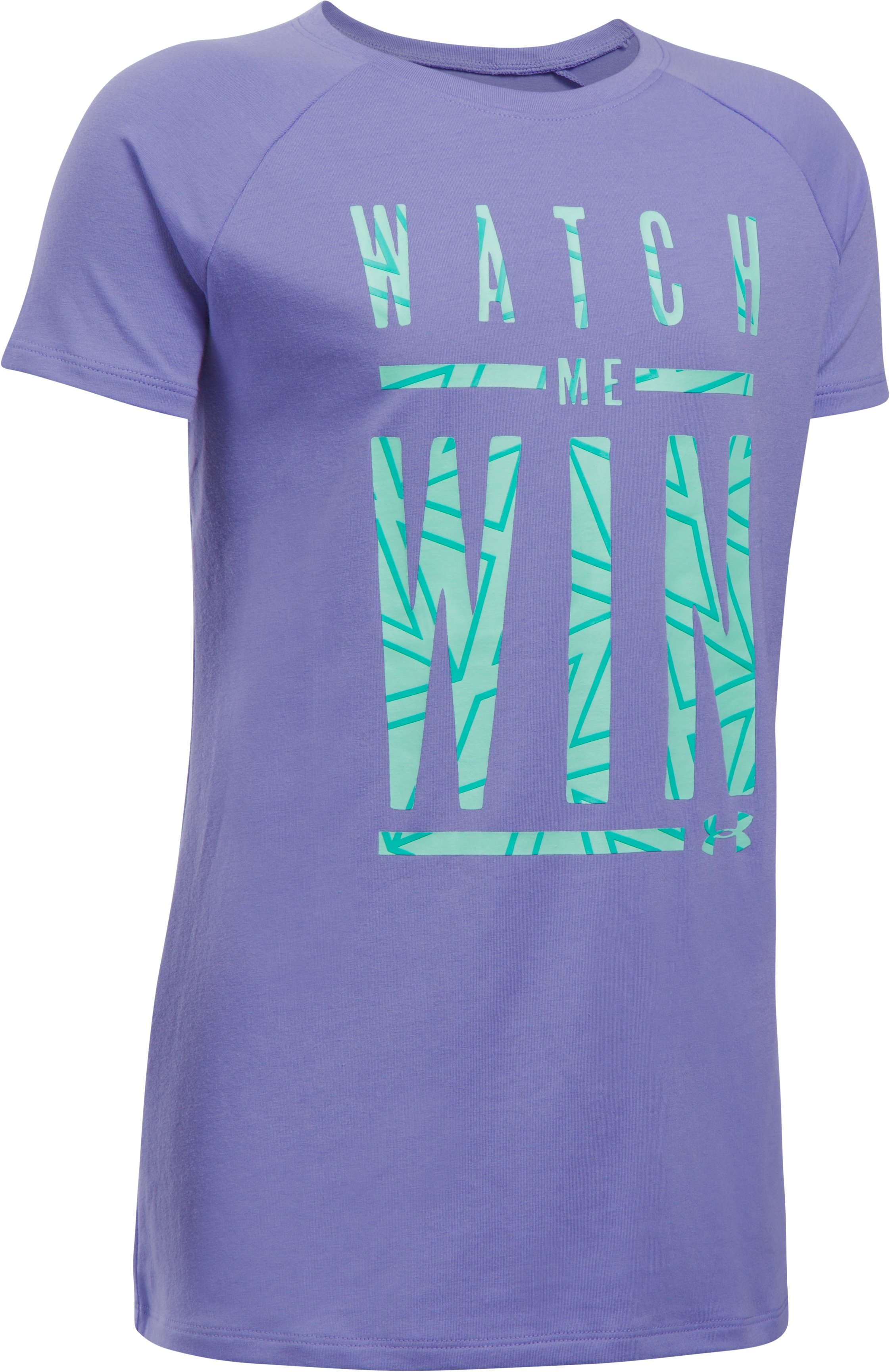 Girls' UA Watch Me Win T-Shirt, FLAX, undefined