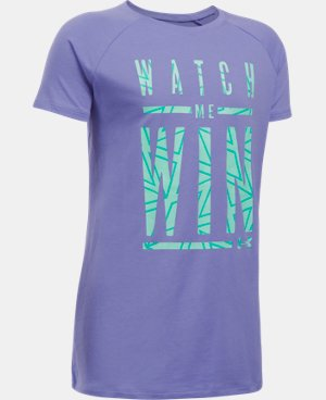 New Arrival Girls' UA Watch Me Win T-Shirt  1 Color $22.99