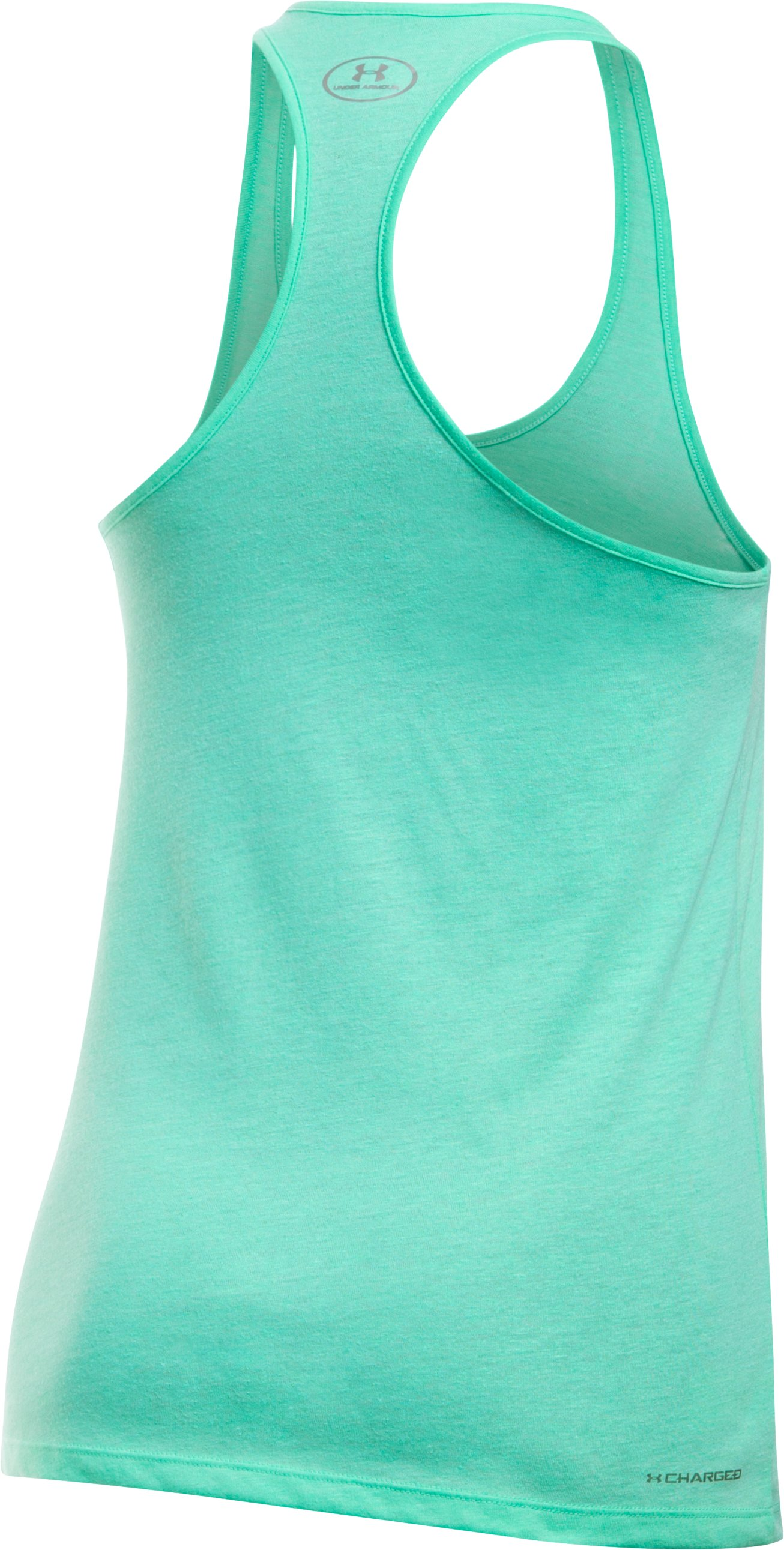 Women's UA Foil Word Mark Tank, CRYSTAL, undefined
