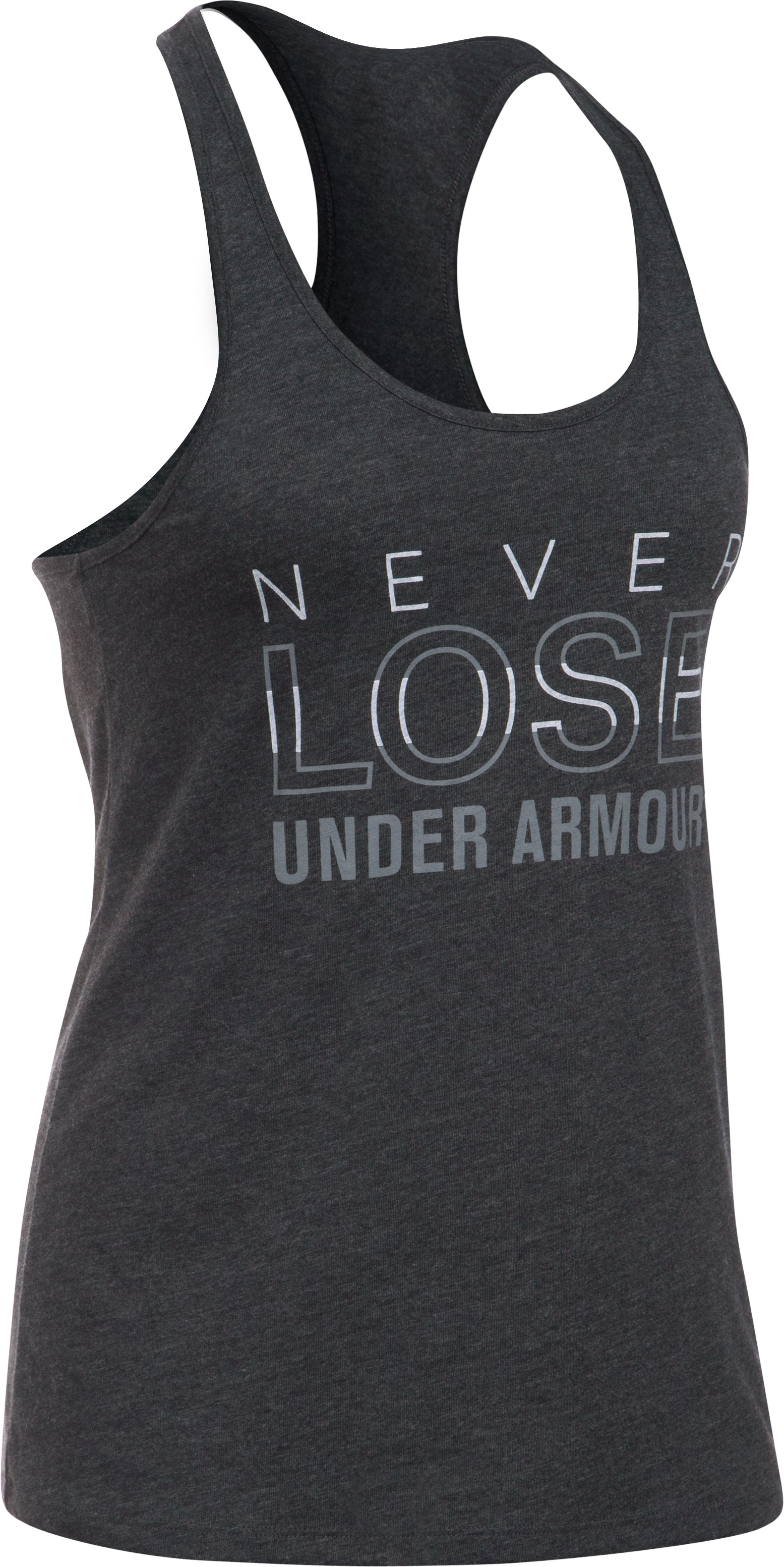 Women's UA Never Lose Tank, Black , undefined