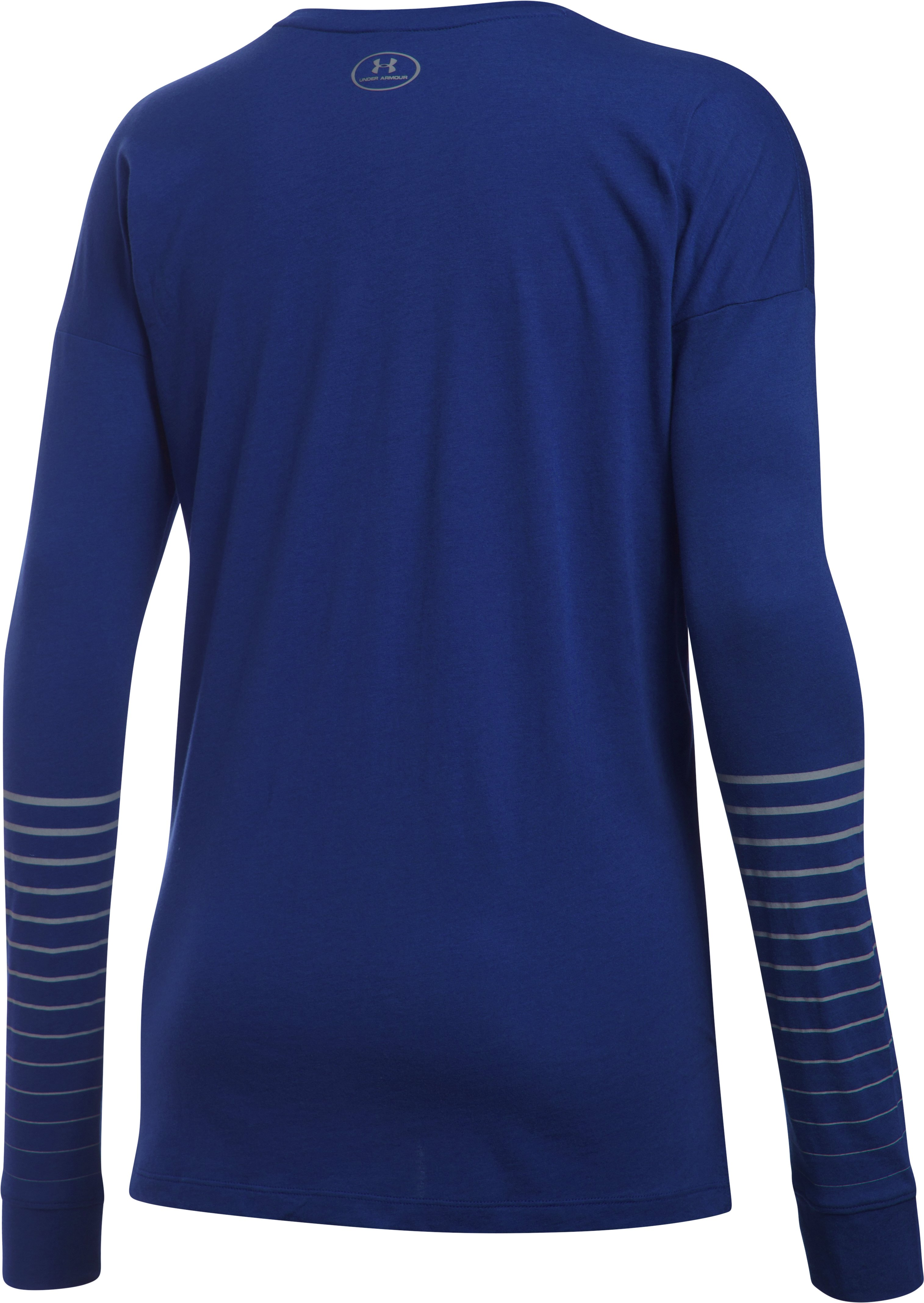 Women's UA Undeniable Long Sleeve, GRAPE FUSION