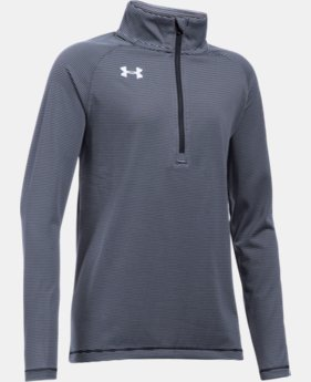Girls' UA Tech™ Stripe ¼ Zip  3 Colors $39.99