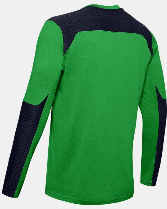 Men's UA Threadborne Wall Goalkeeper Jersey, Green, pdpMainDesktop image number 8