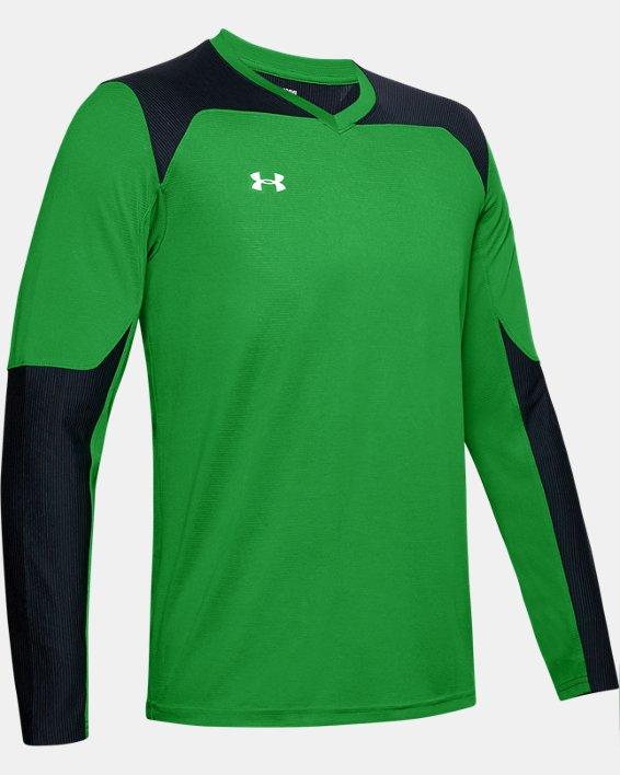 Men's UA Threadborne Wall Goalkeeper Jersey, Green, pdpMainDesktop image number 7