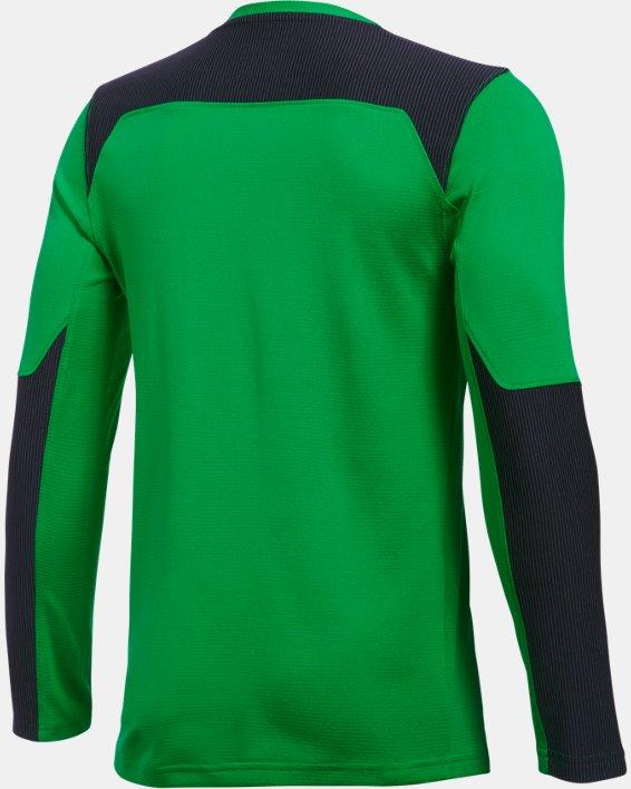 Kids' UA Threadborne Wall Goalkeeper Jersey, Green, pdpMainDesktop image number 3