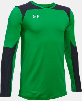 New Arrival  Kids' UA Threadborne Wall Goalkeeper Jersey  1 Color $44.99