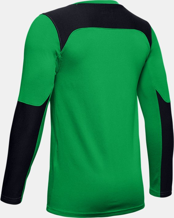 Kids' UA Threadborne Wall Goalkeeper Jersey, Green, pdpMainDesktop image number 2
