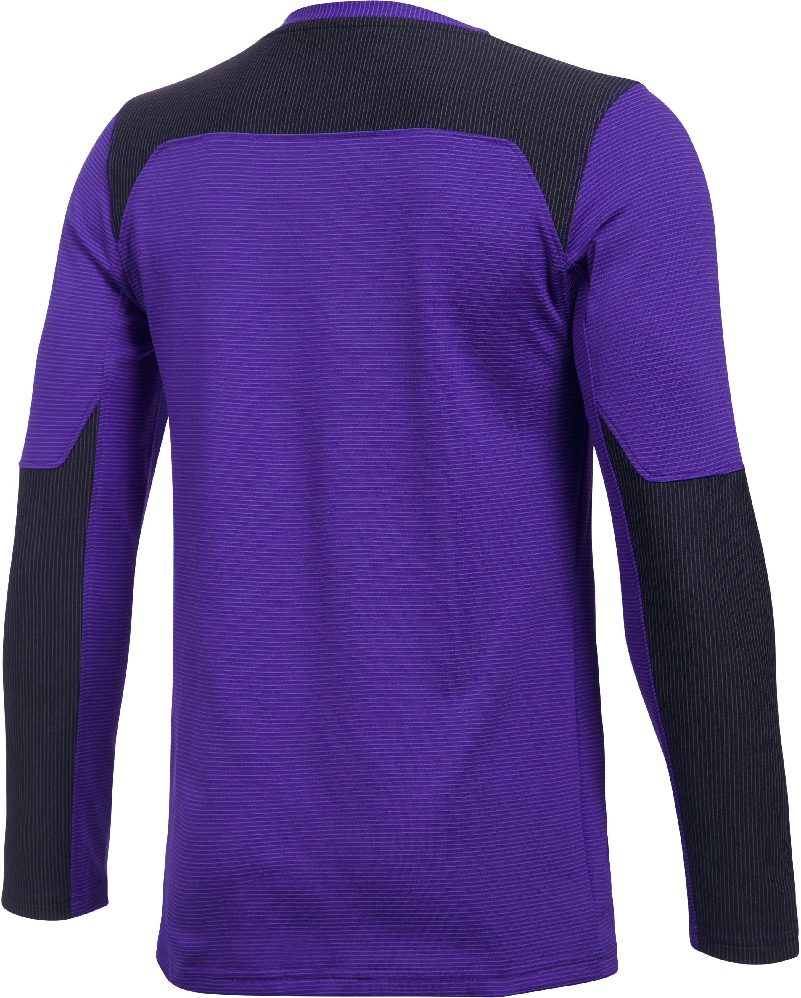 Kids' UA Threadborne Wall Goalkeeper Jersey, PURPLE ZEST, undefined