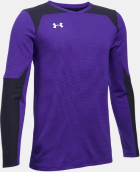 New Arrival Kids' UA Threadborne Wall Goalkeeper Jersey   $39.99
