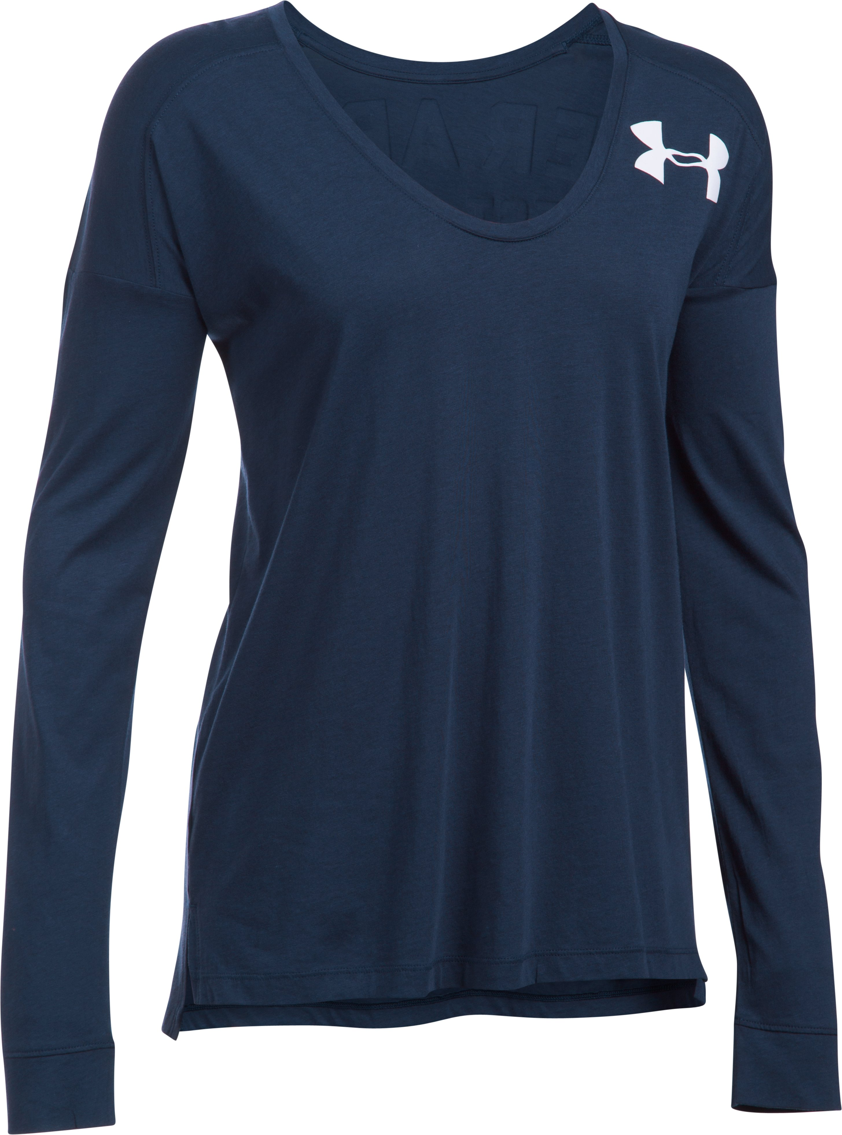 Women's UA Favorite Word Mark Long Sleeve, Midnight Navy, undefined