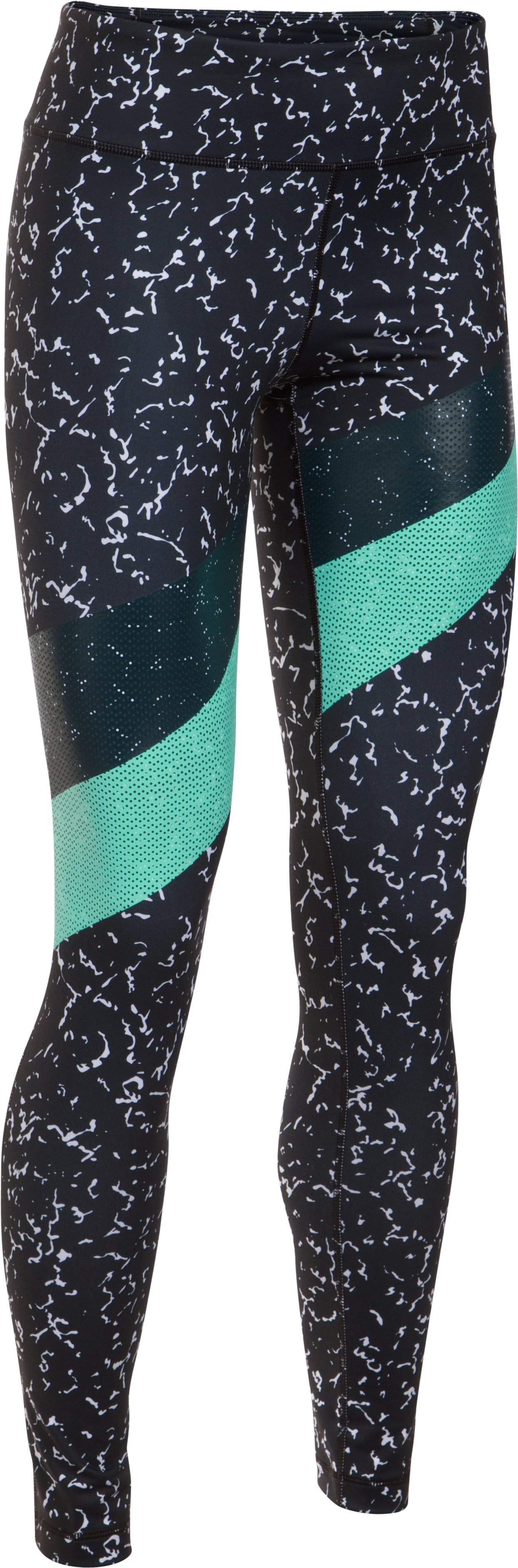Women's UA Mirror Marble Stripe Leggings, Black , undefined