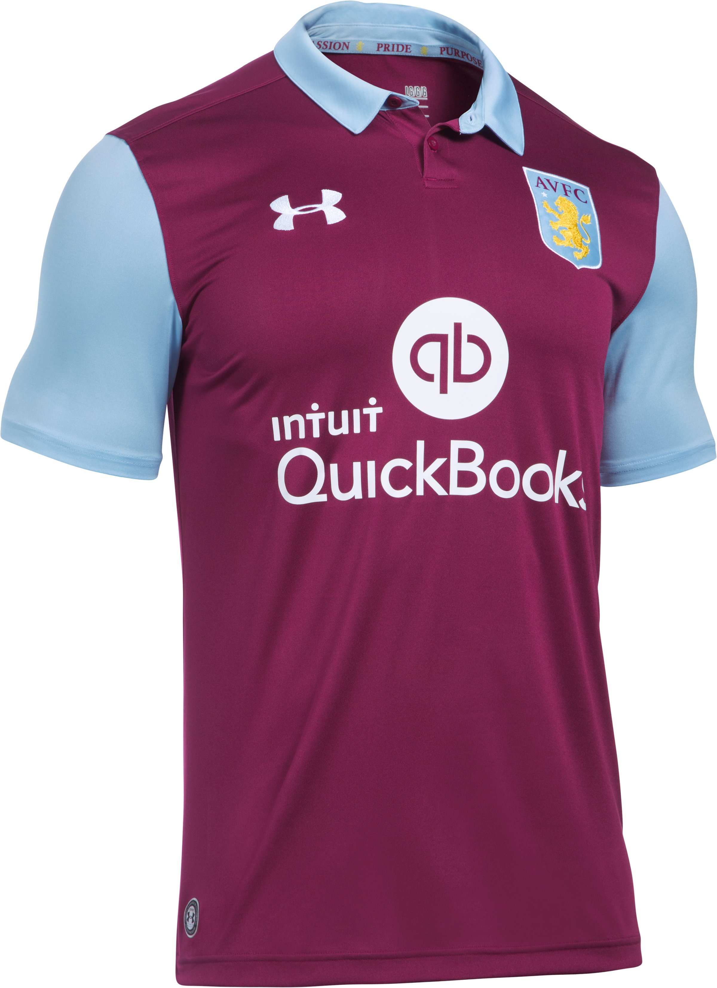 Men's Aston Villa 16/17 Home Replica Jersey, ROYAL MAGENTA, undefined