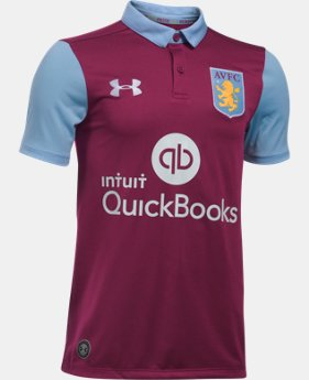 New Arrival Kids' Aston Villa 16/17 Home Replica Jersey  1 Color $80