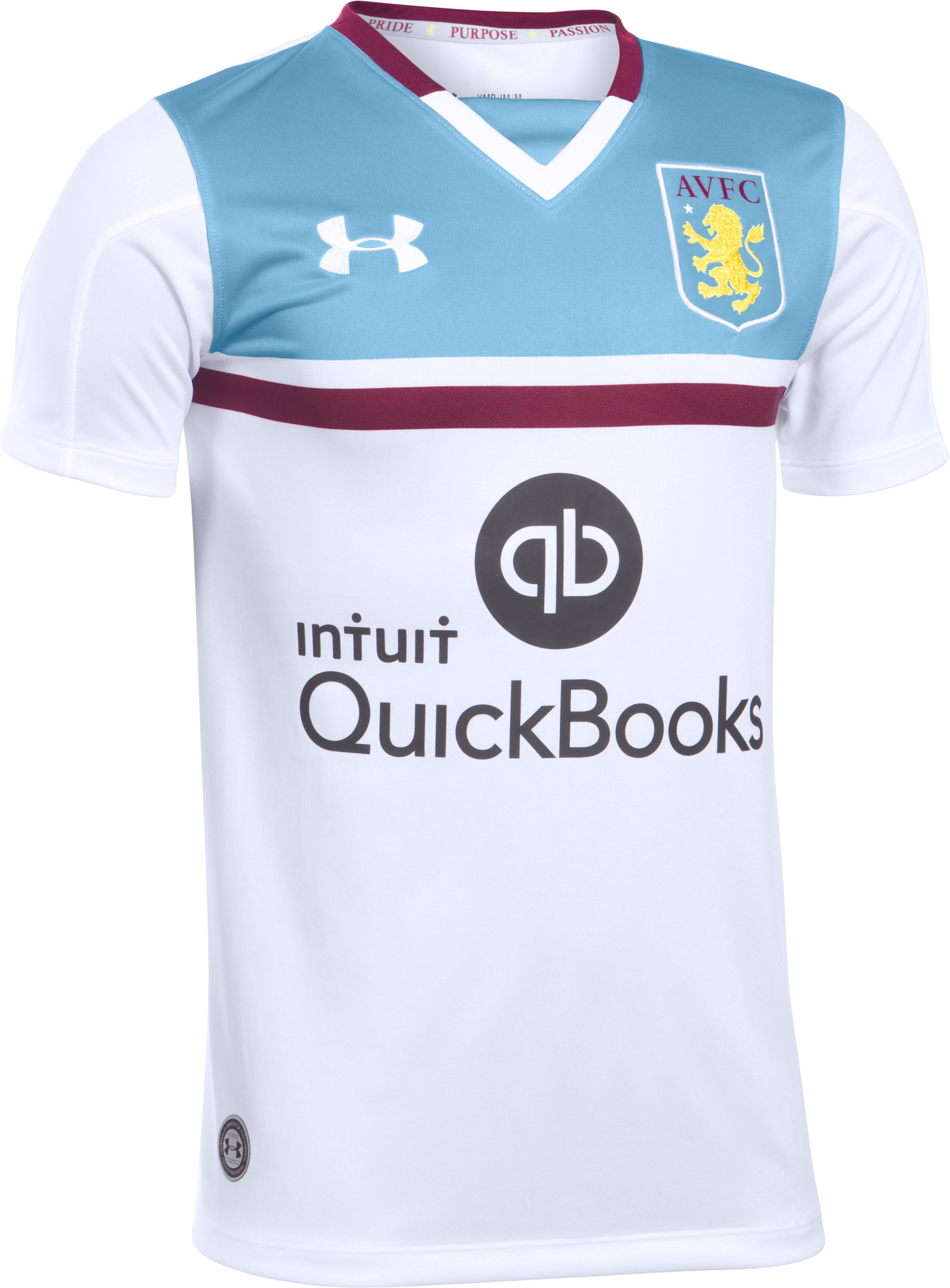 Kids' Aston Villa 16/17 Away Replica Jersey, White,