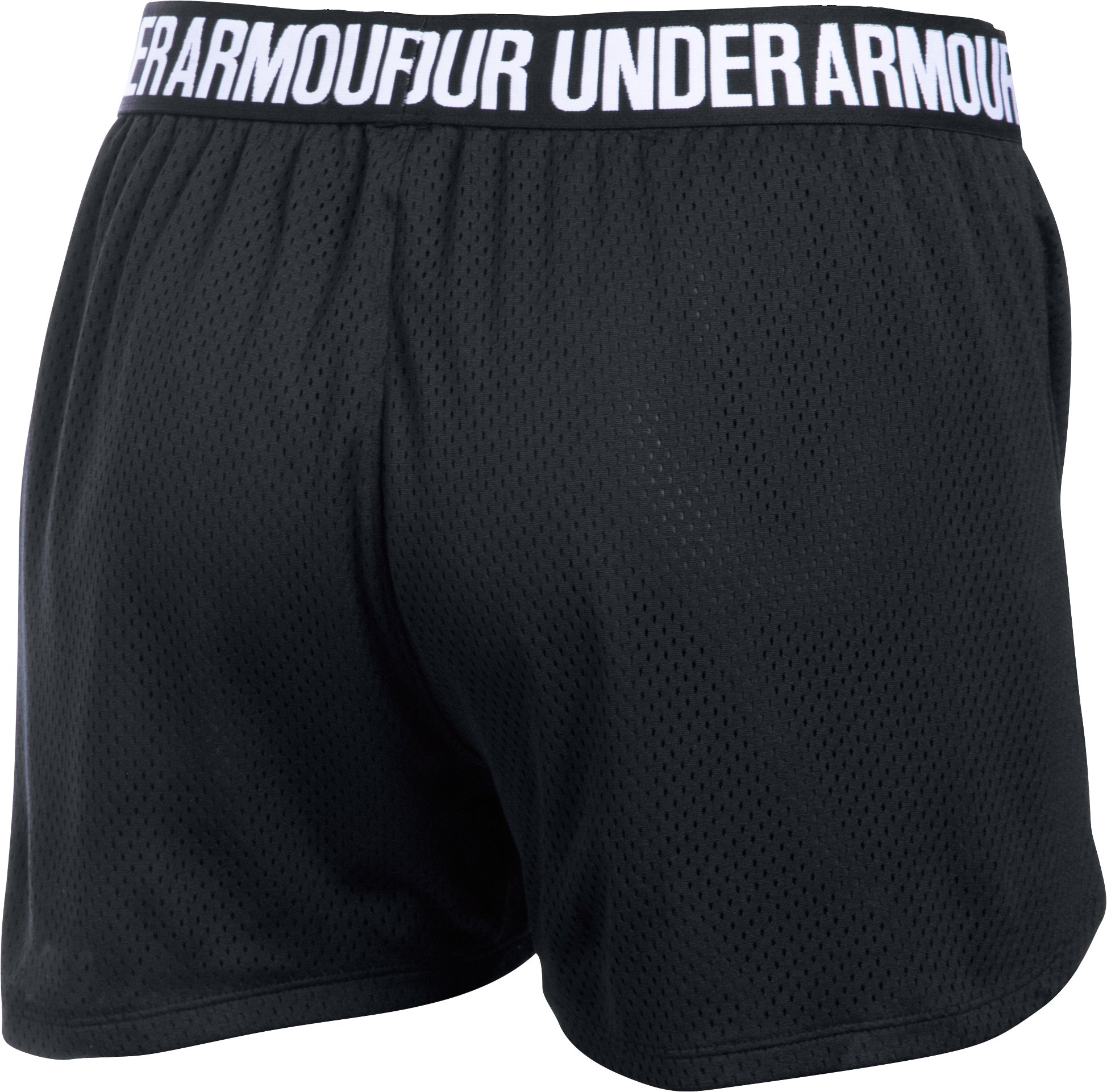 Women's UA Play Up Mesh Shorts, Black ,