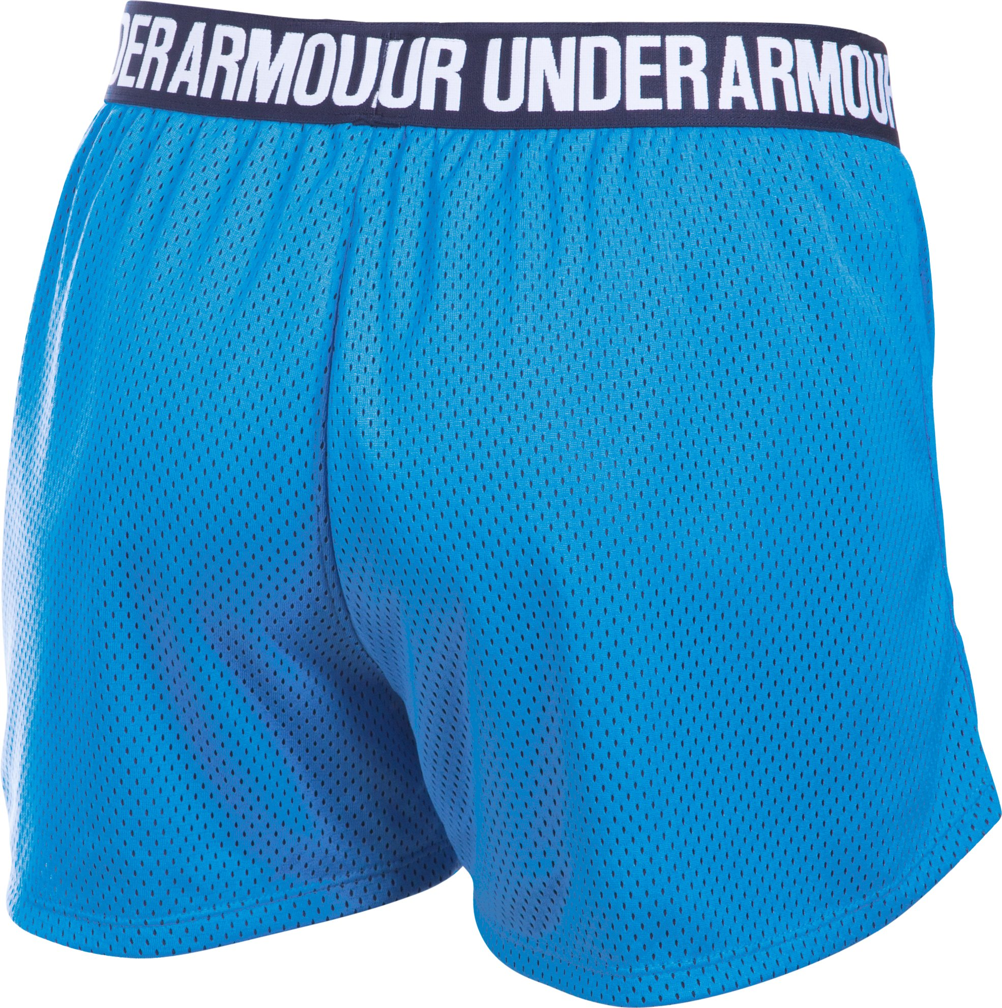 Women's UA Play Up Mesh Shorts, Water, undefined