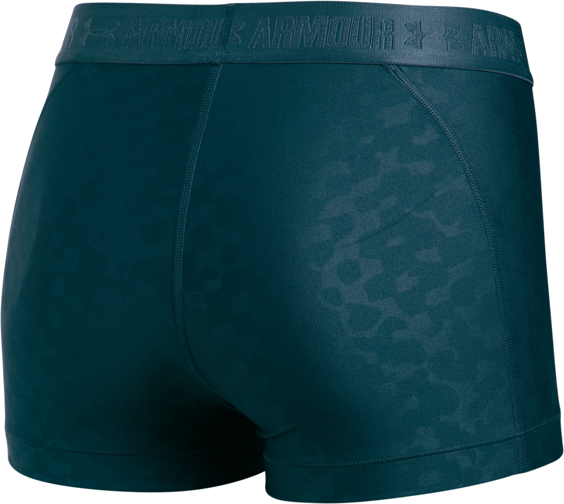 Women's UA HeatGear® Armour Embossed Shorty, NOVA TEAL, undefined