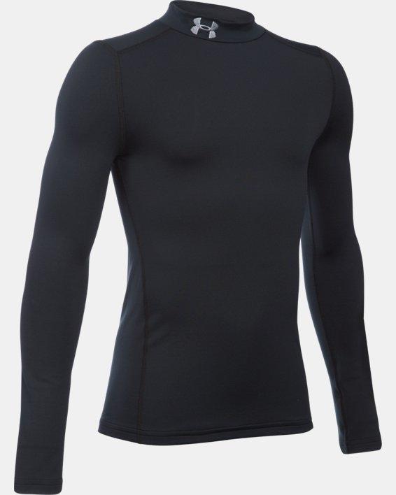 Boys' ColdGear® Armour Mock, Black, pdpMainDesktop image number 2