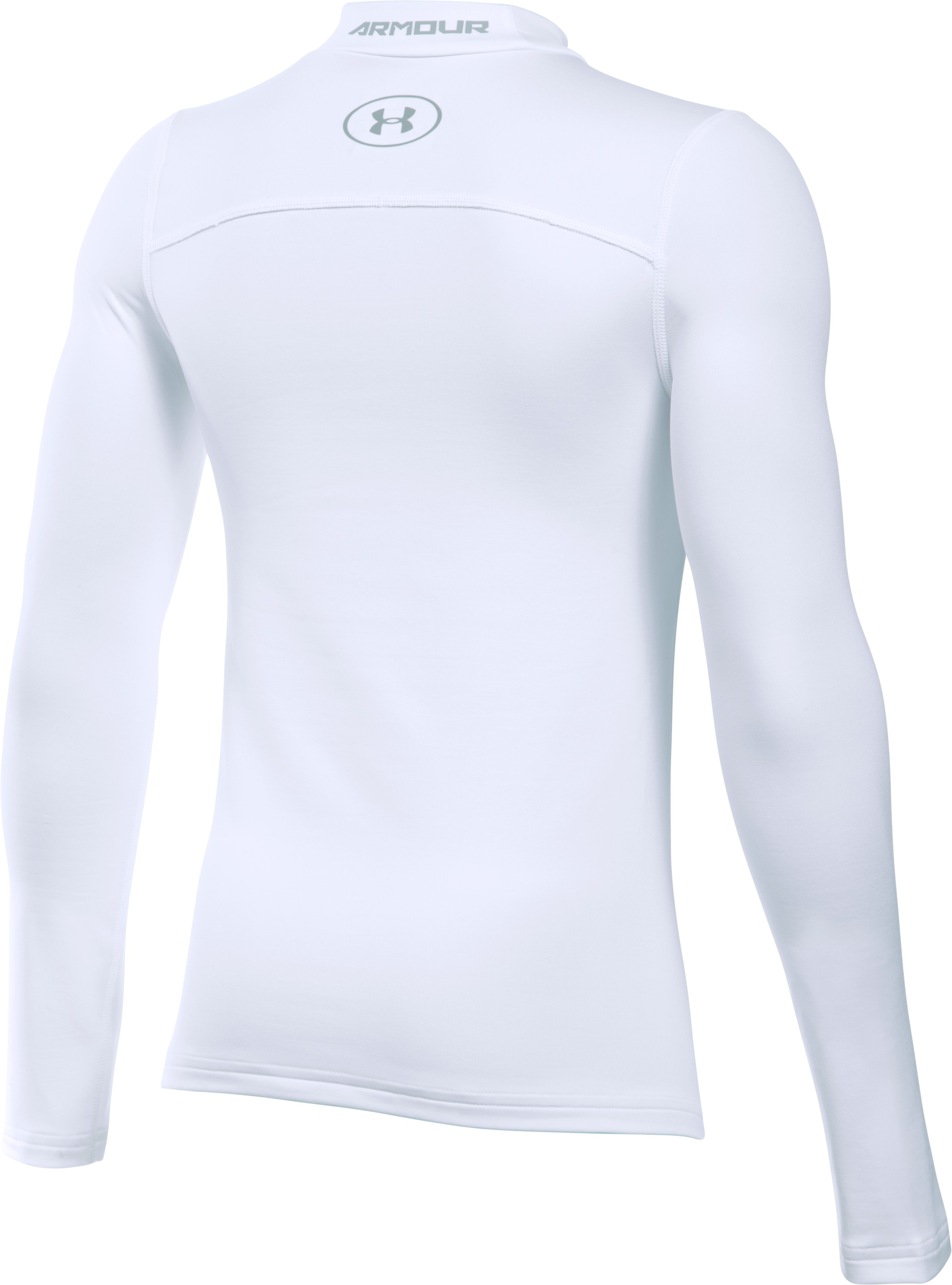 Boys' ColdGear® Armour Mock, White,