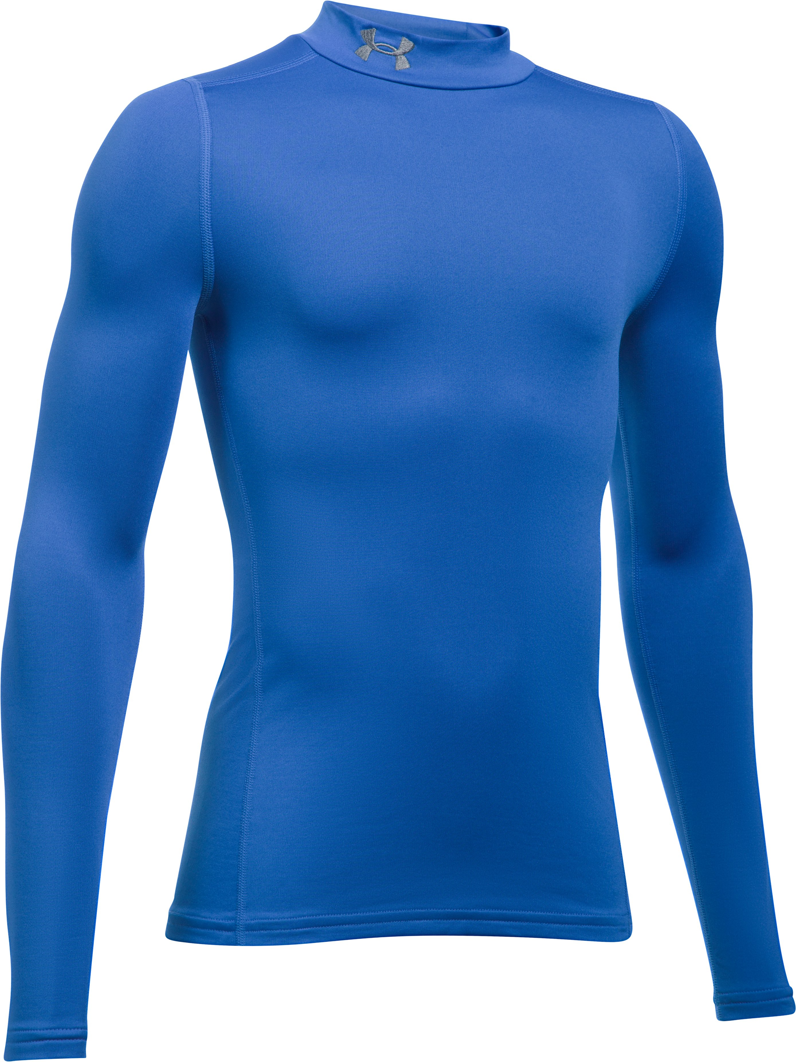 Boys' ColdGear® Armour Mock, ULTRA BLUE,