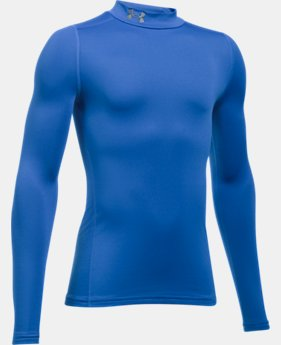 Boys' ColdGear® Armour Mock LIMITED TIME OFFER 2 Colors $27.99