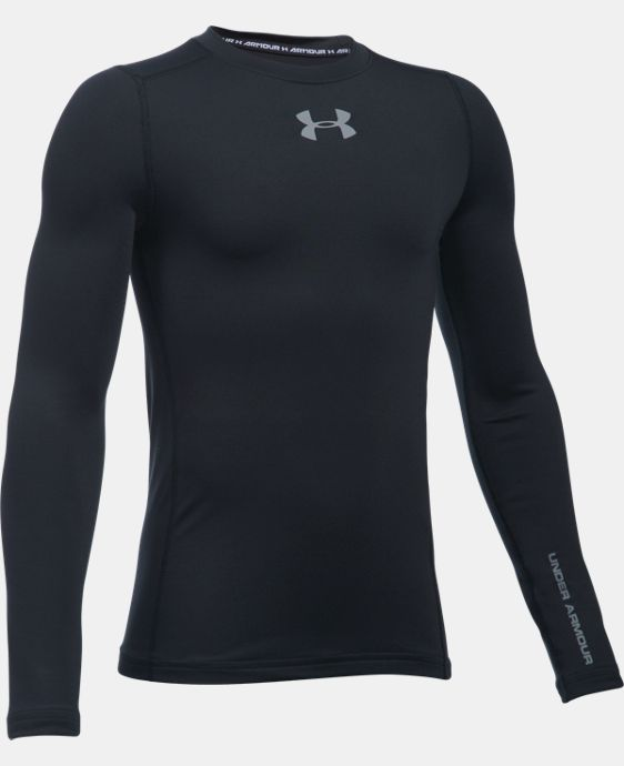 Boys' UA ColdGear® Armour Crew  LIMITED TIME OFFER + FREE U.S. SHIPPING 2 Colors $29.99