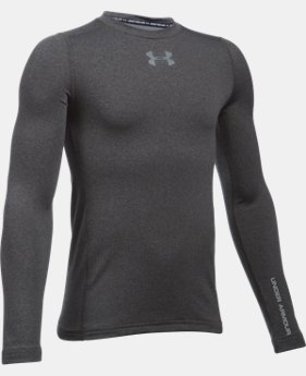 Boys' UA ColdGear® Armour Crew  LIMITED TIME: FREE U.S. SHIPPING 2 Colors $29.99