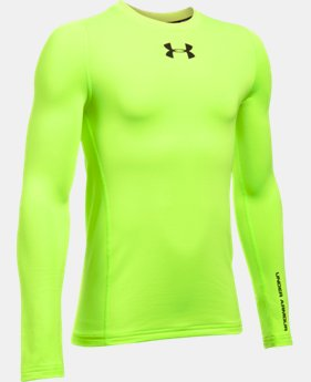 Boys' UA ColdGear® Armour Crew  LIMITED TIME: FREE U.S. SHIPPING 4 Colors $29.99