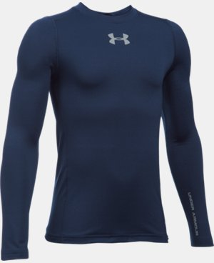 New Arrival Boys' UA ColdGear® Armour Crew  LIMITED TIME OFFER + FREE U.S. SHIPPING 1 Color $39.99