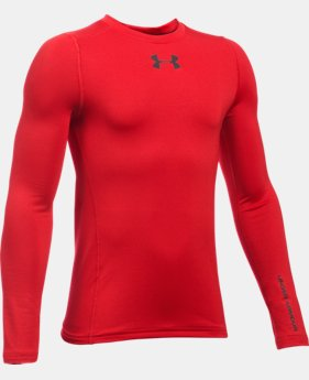 Boys' UA ColdGear® Armour Crew  LIMITED TIME: FREE SHIPPING 1 Color $33.74