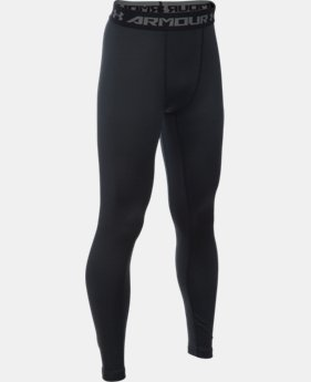 Boys' UA ColdGear® Armour Leggings LIMITED TIME OFFER + FREE U.S. SHIPPING  $29.99
