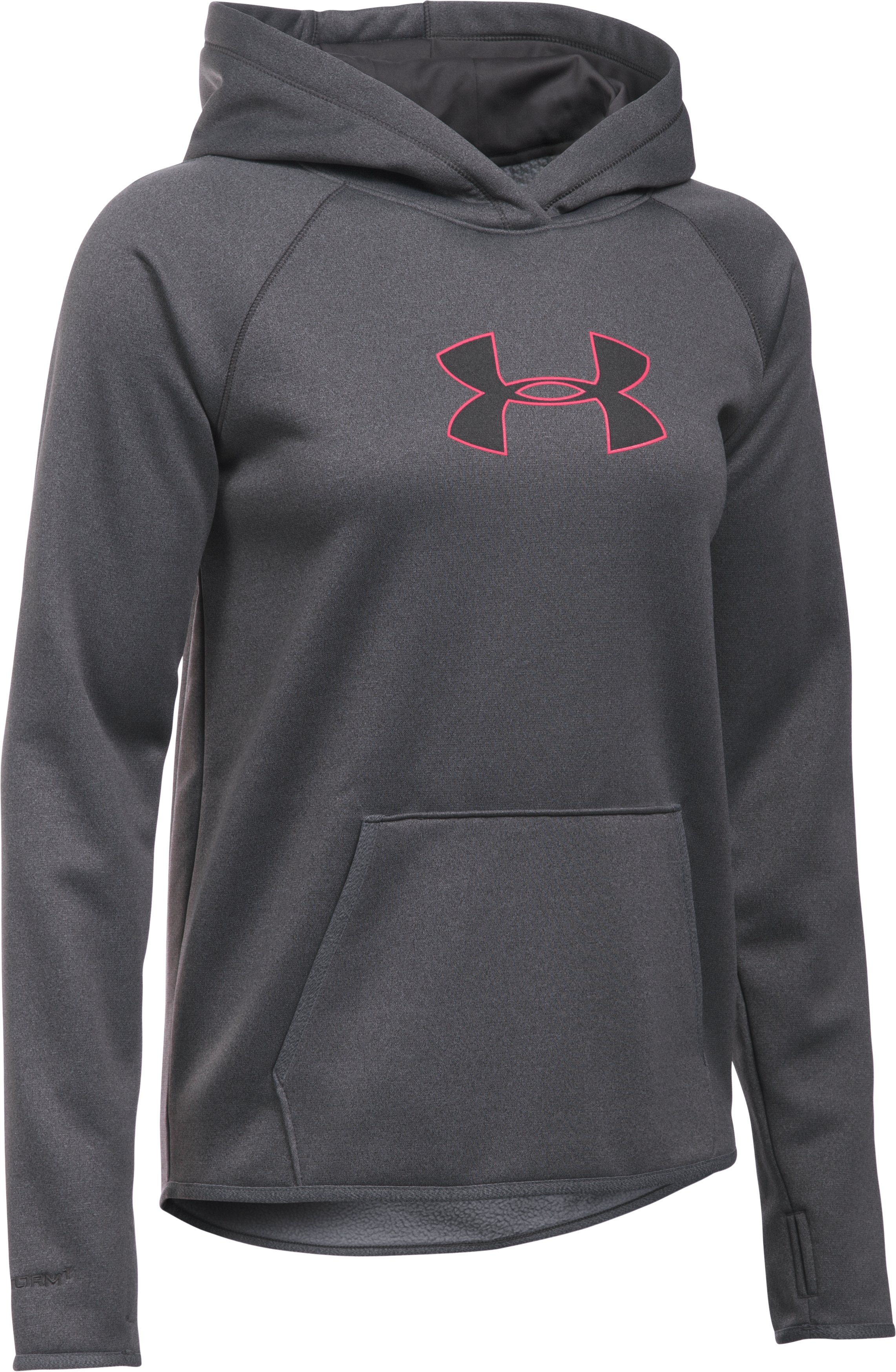 Women's  UA Storm UA Logo Hoodie, Carbon Heather, undefined
