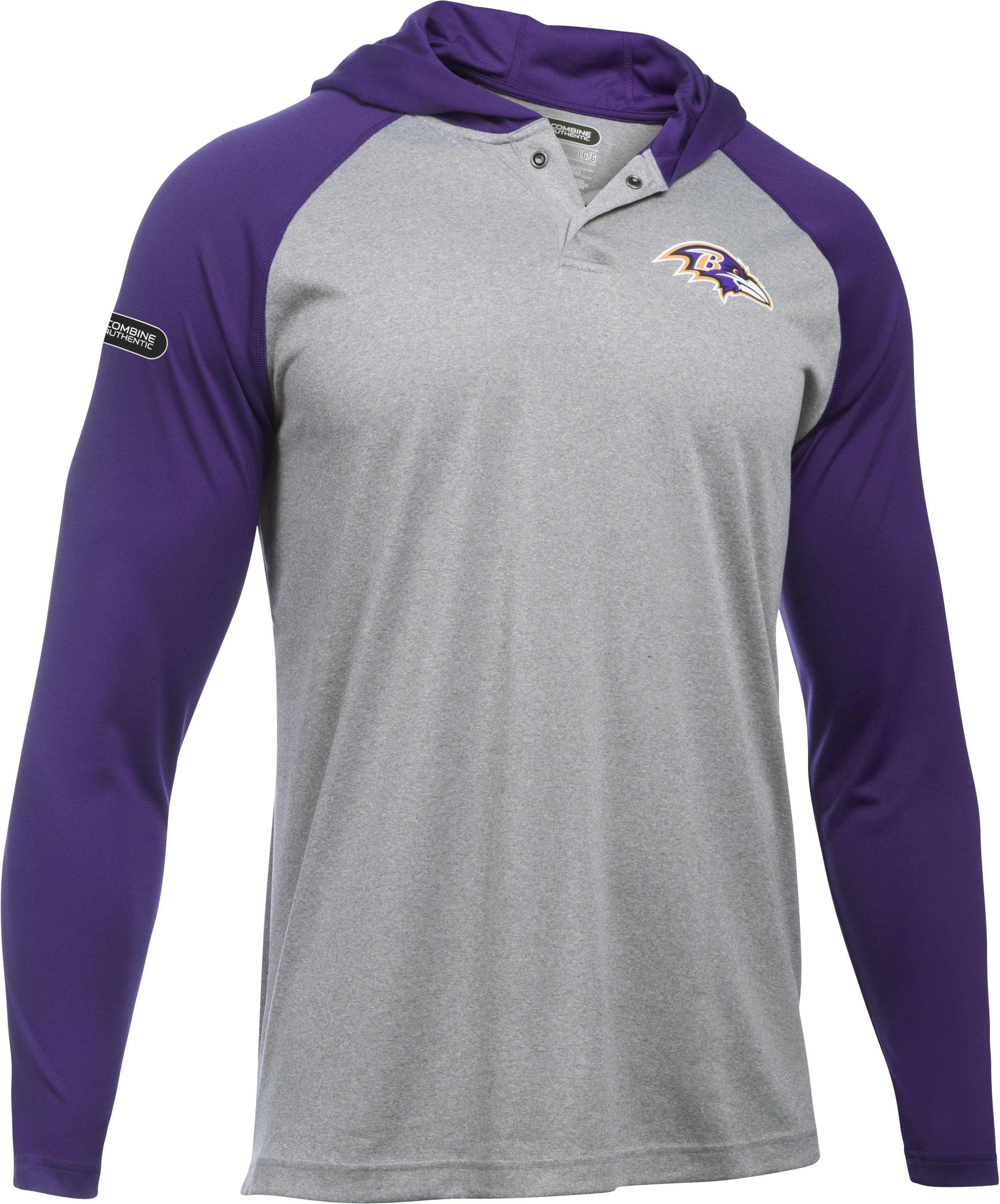 Men's NFL Combine Authentic UA Tech™ Popover Hoodie, Baltimore Ravens, undefined