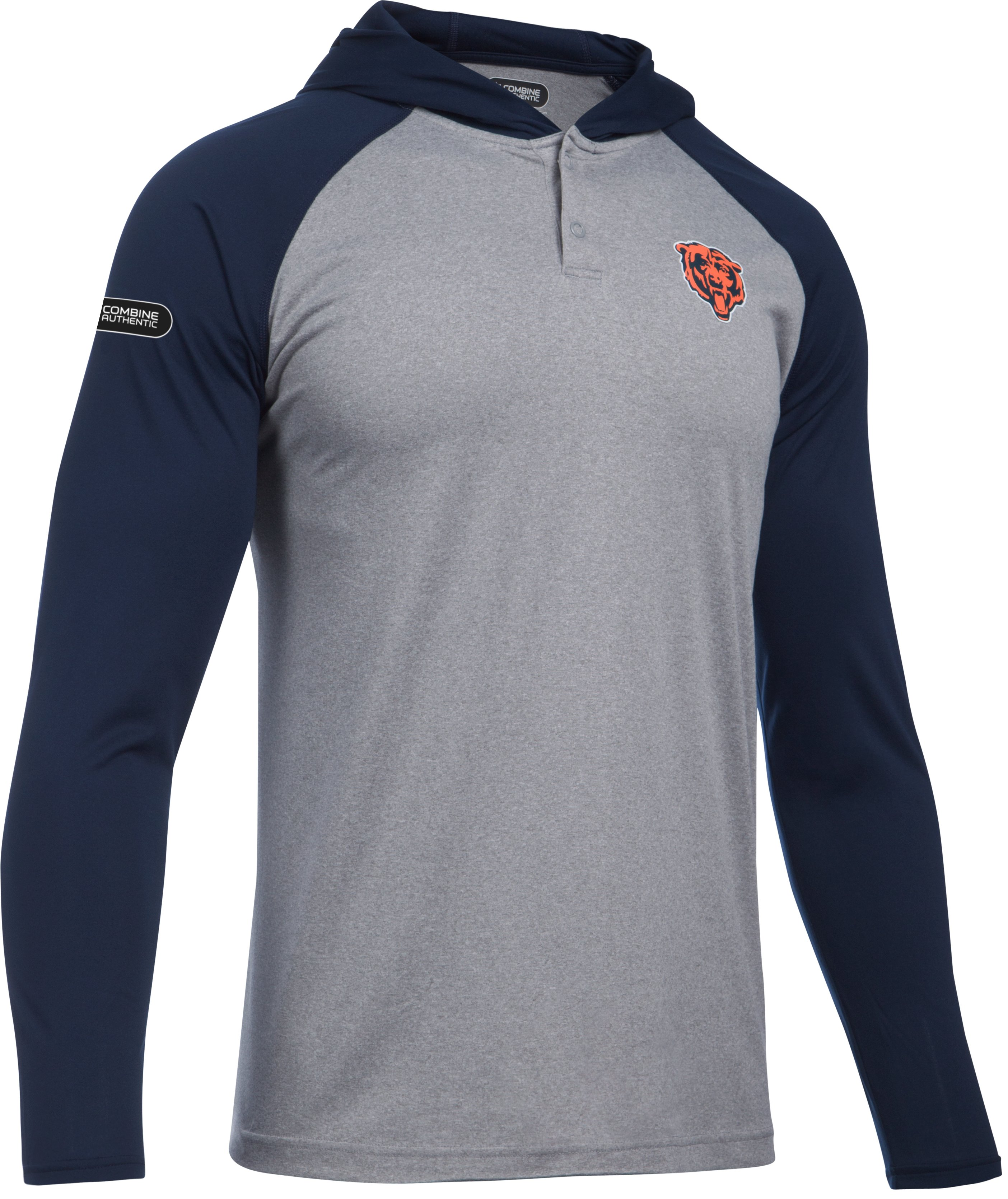 Men's NFL Combine Authentic UA Tech™ Popover Hoodie, Chicago Bears, undefined