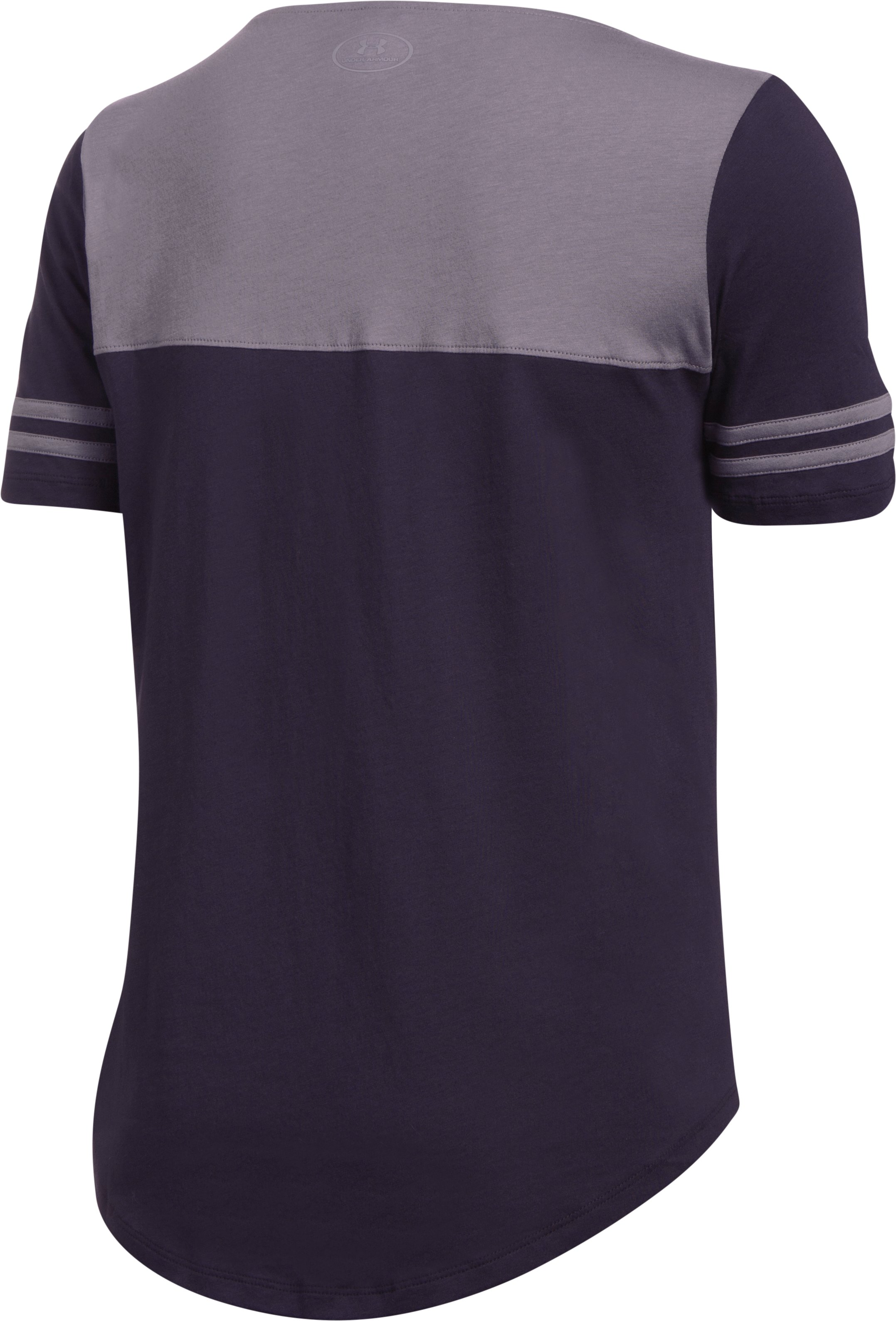 Women's UA Graphic Baseball T, IMPERIAL PURPLE,
