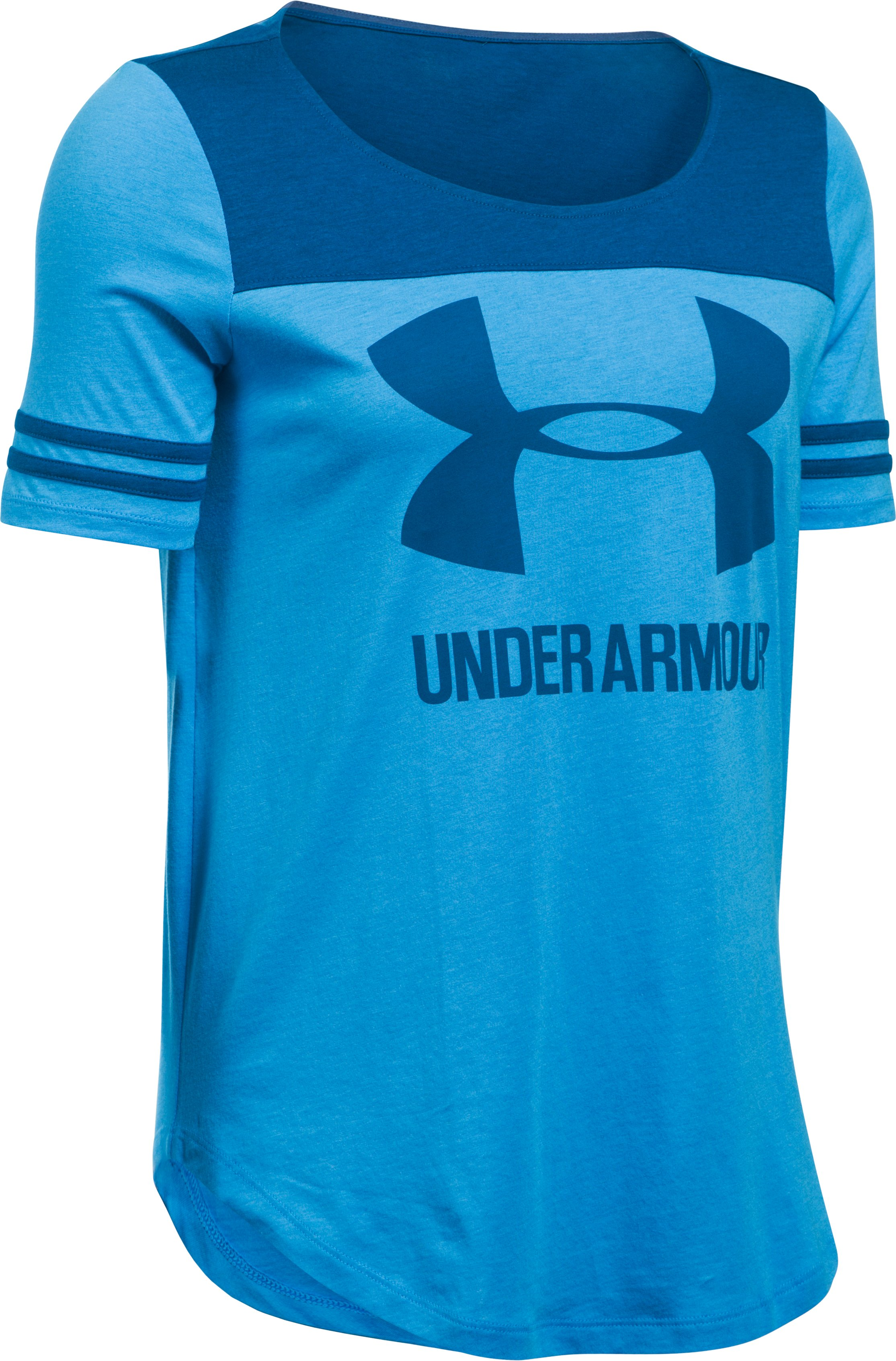 Women's UA Graphic Baseball T, Water,