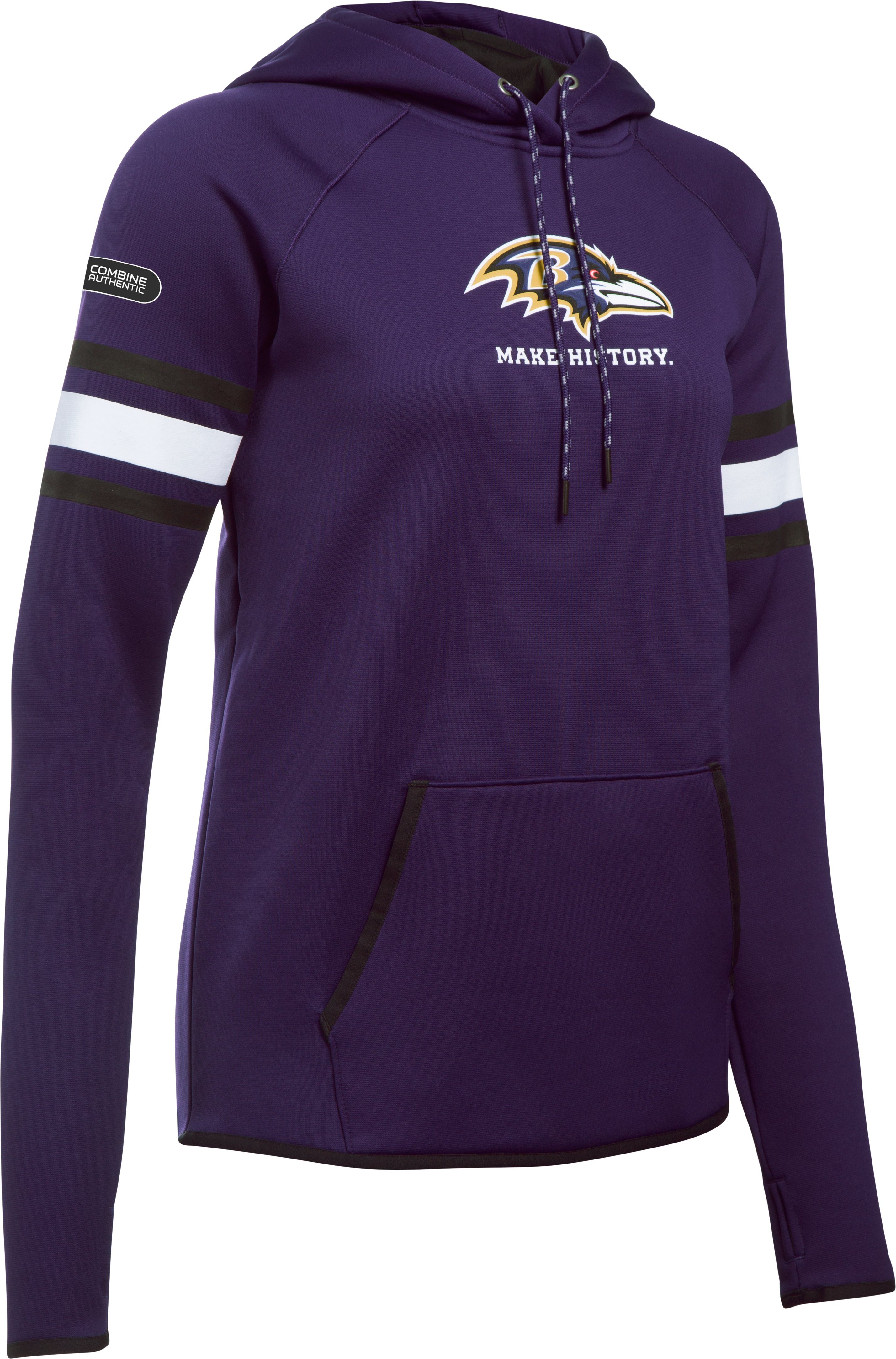 Women's  NFL Combine Authentic UA Storm Armour Fleece® Hoodie, Baltimore Ravens, undefined