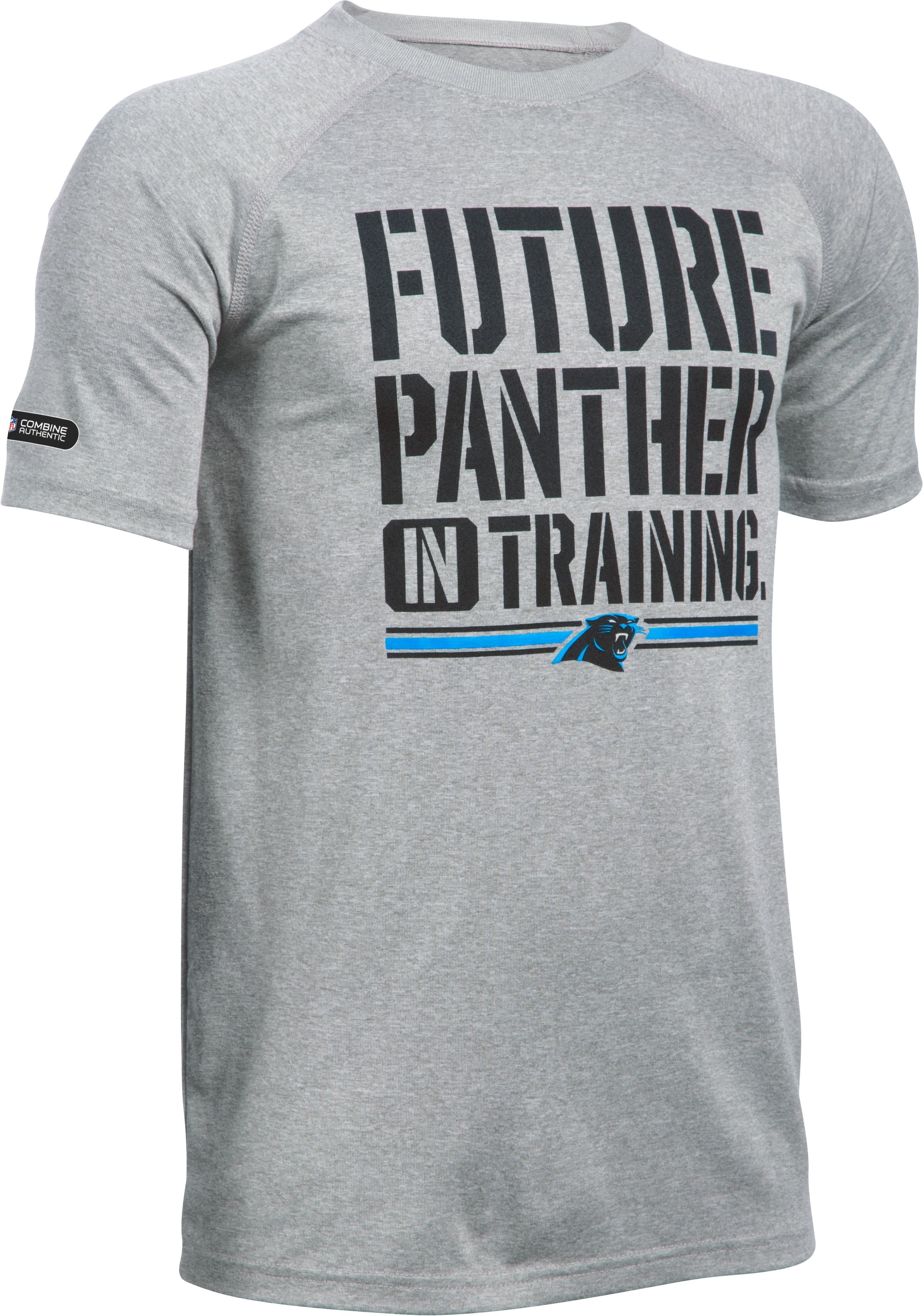 Boys' New Orleans Saints NFL Combine Authentic UA Tech™ Graphic T-Shirt , Carolina Panthers, zoomed image
