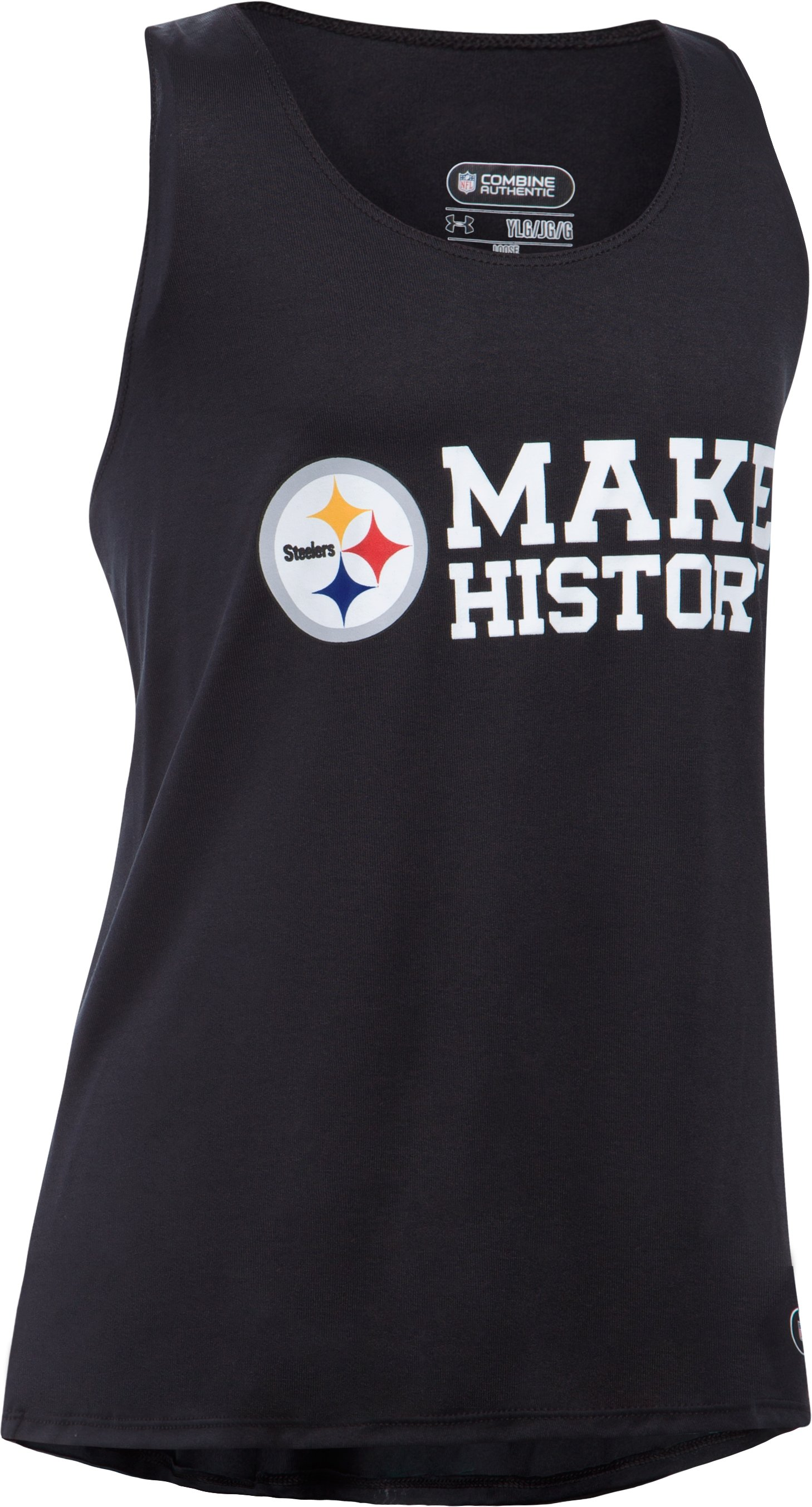 Girls' NFL Combine Authentic UA Tech™ Tank, Pittsburgh Steelers