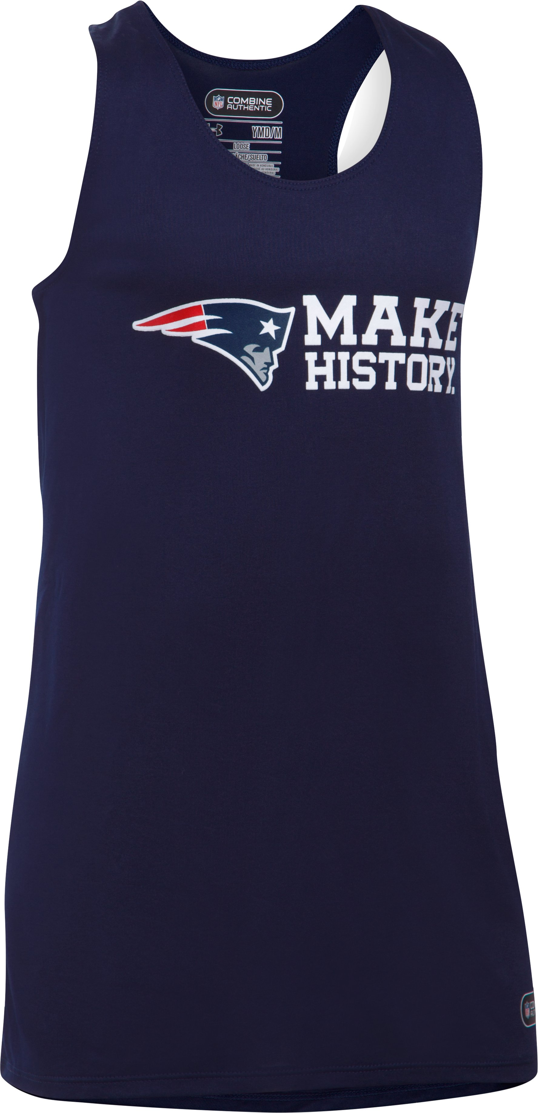 Girls' NFL Combine Authentic UA Tech™ Tank, New England Patriots