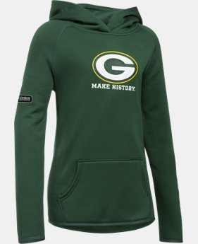 New Arrival Girls' NFL Combine Authentic Armour® Fleece Hoodie  1 Color $54.99