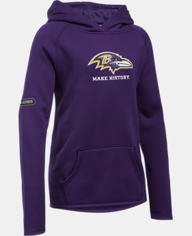 New to Outlet Girls' NFL Combine Authentic Armour® Fleece Hoodie  1 Color $32.99 to $38.99