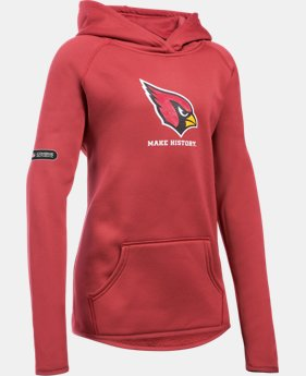 Girls' NFL Combine Authentic Armour® Fleece Hoodie LIMITED TIME: FREE U.S. SHIPPING 2 Colors $41.99