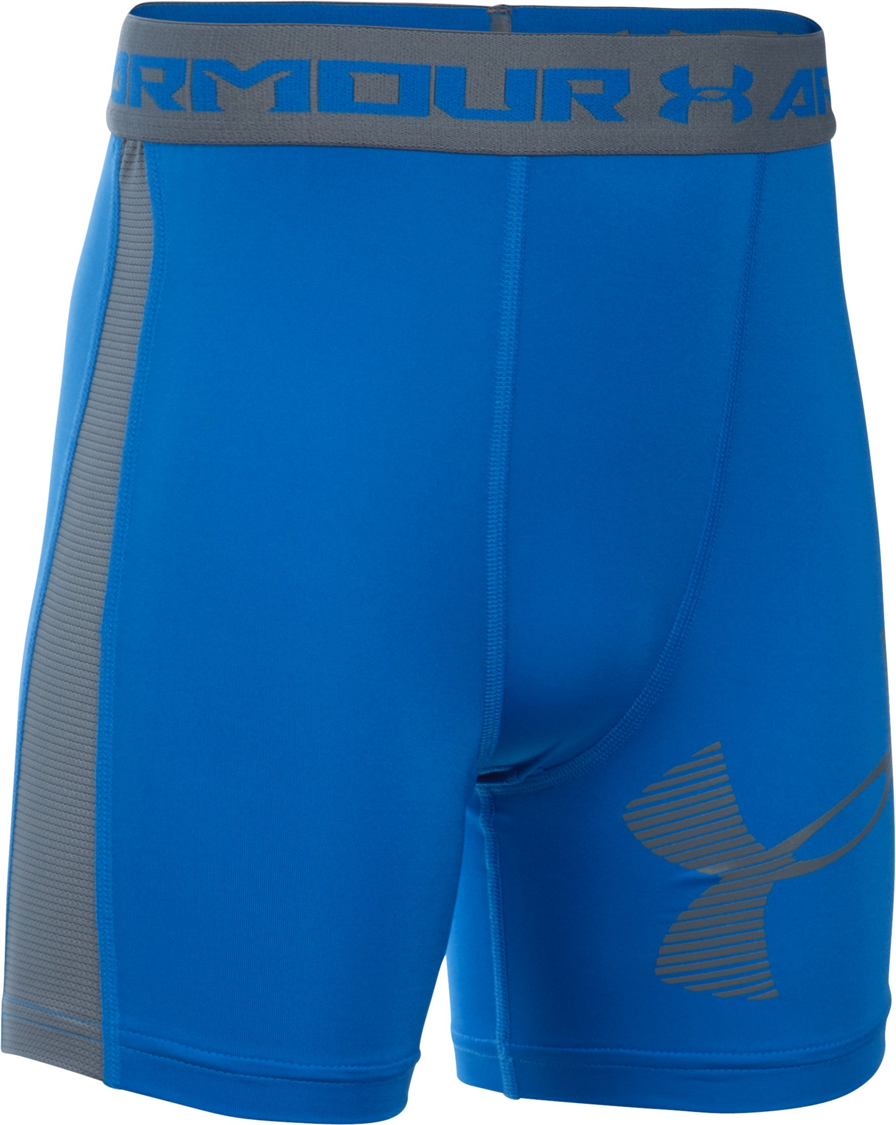 Boys' UA HeatGear® Armour Up Fitted–Mid, ULTRA BLUE, zoomed image